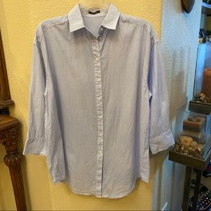 IKKS Light Blue Buttoned Down Top Size 36